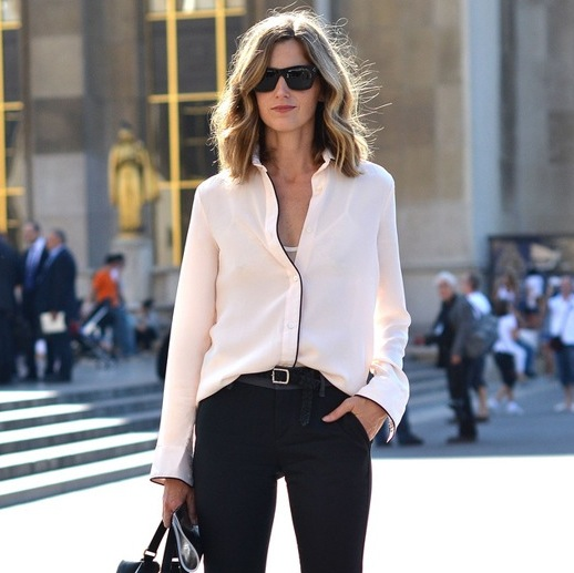 Foto reprodução: Street Style Normcore 4f810__Le-Fashion-Blog-Street-Style-Amanda-Brooks-Contrast-Piping-Button-Down-Shirt-Via-ELLE-2