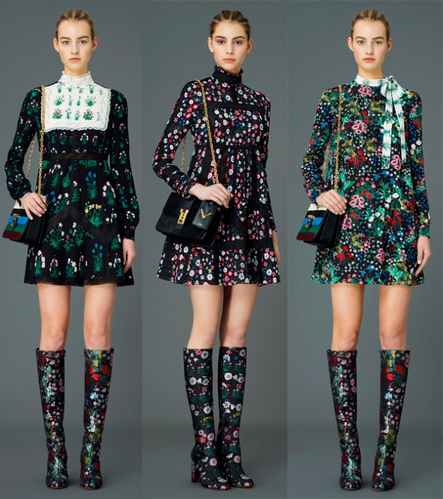 Valentino-pre-fall-2015-floral-print-mini-dresses
